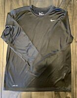 The nike tee dry-fit Black Long Sleeve T-Shirt Athletic Cut Men's Size Large