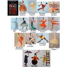 Cirque Du Soleil, Full Set Of Sixteen Ornaments, by Artist Judie Bomberger