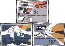 Chipre 666-668 (edición completa) nuevo 1986 Seguridad del Tráfico