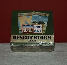 "Very Nice-Set of ProSet ""Desert Storm"" cards-sealed & unopened"