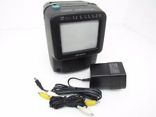 Sony Color Watchman FDT-5BX5 Color CRT TV - AM/FM Tuner A/V Inputs Black