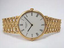 PATEK PHILIPPE 18K YELLOW GOLD 34mm CALATRAVA DRESS WATCH 3821-001 MINT PAPERS