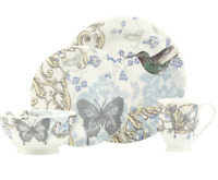 NEW IN BOX LENOX COLLAGE BUTTERFLY - Alice Drew 4 PIECE CHINA DINNERWARE 836533