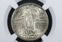 1917 Type 1 Standing Liberty Quarter, NGC AU-58 FH