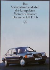 Prospekt Der neue Mercedes W201 190E 2,6 -  09/85
