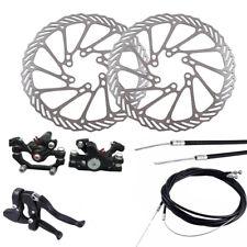 Freno de Disco Mecánico Frontal Trasero Conjunto Cable De Bicicleta MTB Bicicleta con Rotores 160mm