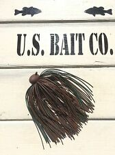 Bass Jig Skirts Living Rubber Lot Of 10 Color Brown Black Green