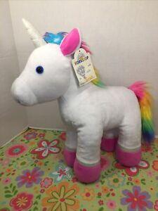 "VGUC-14"" Build A Bear Rainbow Unicorn Stuffed Plush Animal Toy"