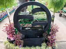 GRC Garden Patio Water Feature Harmony Round Cascading Fountain Black