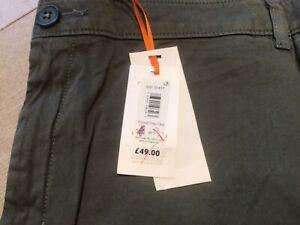 John Lewis Womens Washed Chino Trousers - Olive UK 20