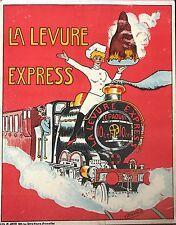 LA LEVURE EXPRESS CARTON PUBLICITAIRE