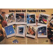 PAPERBOY 2 Nintendo SNES NES GAME BOY two-page magazine print ad