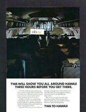 TWA TRANS WORLD AIRLINES TO HAWAII BOEING 707 JETS HAWAII MOVIE ON THE WAY AD