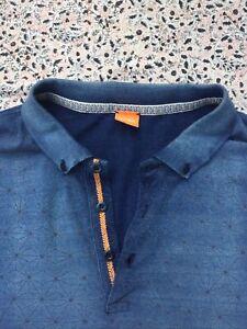 HUGO BOSS - Blue - Geometric - Short Sleeve - Pachouly - Polo Shirt - XL