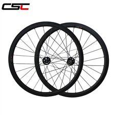 Road Disc hub 23mm Width 38mm Tubular Cyclocross carbon wheels12*100mm thru axle