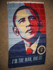 3x5 Obama I'm The Man, Dig It Flag Flag 3'x5' Banner Brass Grommets