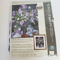 Dimensions Needlepoint Kit TULIPS AND LILACS w/ CANVAS &THREAD 16 x 12