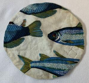 1990s mail art homemade cloth sanitary napkin holder ~ FISH
