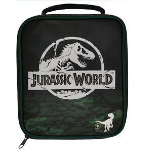 Jurassic World Camo Rectangular Lunch Bag Kids School Snacks Pack Up Travel
