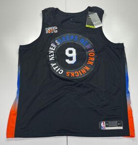 New York Knicks RJ Barrett #9 Nike 2020-21NBA Swingman Jersey City Edition XL