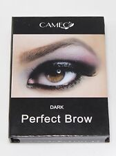 Cameo Cosmetics Perfect Brow- Dark Brown Eyebrows Brush Stencils Tweezer Brush