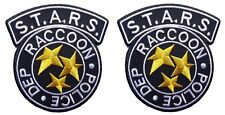 Resident Evil S.T.A.R.S. Raccoon Police Black costume Logo patches Set of (2)