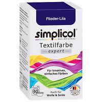SIMPLICOL Textilfarbe EXPERT FLIEDER LILA 150g Farbe auch für Wolle & Seide