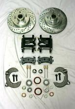 Mustang II Front Disc Brake Kit Slotted Ford NO SPINDLES Black Wilwood Calipers