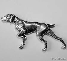 English Pointer Pewter Pin Brooch - British Hand Crafted - Gun Dog Hunting