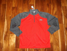Nwt Mens Knights Apparel 1/4 Zip Unlv Red Gray Pullover Size L Large