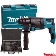 Makita HR2630 SDS + Martillo Perforador 240 V Con Makita D-21200 17pc SDS + Taladro broca conjunto