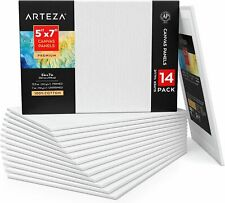 Arteza Premium Canvas Panels, 6 x 6 in - Pack of 14