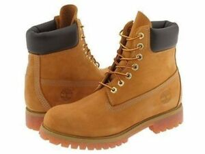 MEN'S TIMBERLAND PREMIUM 6IN WATERPROOF BOOT WHEAT NUBUCK TB10061