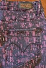 Levis Legging sz 4M W27 L32 Hemmed Purple/Black Leggings Jeans     (#380-4)