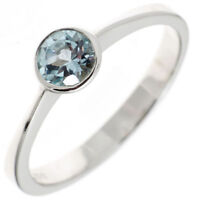 Ring Damenring mit Topas Blautopas 925 Silber rhodiniert Fingerschmuck
