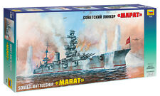 "Zvezda 9052. ""Marat"" plastic Soviet battleship scale model kit 1/350 8+"