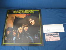 Iron Maiden 1982 Japan Signed Tour Book with Ticket NWOBHM Autographed Program