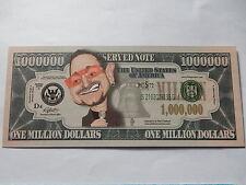 Bono Novedad $1 millones de dólares nota Bill $1,000,000 Paul David Hewson U2 Musican