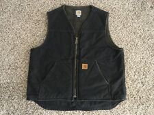 DARK BROWN CARHARTT SANDSTONE SHERPA LINED WORK VEST XL Nice