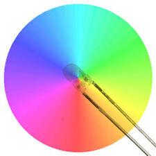 5 x Rainbow LED Clear Lens -  5mm -  Rapid Cycle