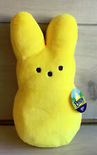"""A55 Peeps Marshmallow Yellow Bunny Plush! 10"""" Lovey Stuffed Toy Easter"""