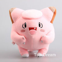 "Cute Clefairy Plush Toy Soft Stuffed Animal Doll 9"" Teddy Kids Gift"