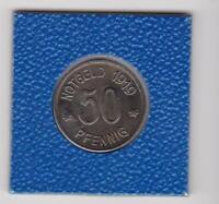 50 Pfennig Lüdenscheid 1919 Eisen Stadt Kriegsgeld Notgeld prima Erhaltung