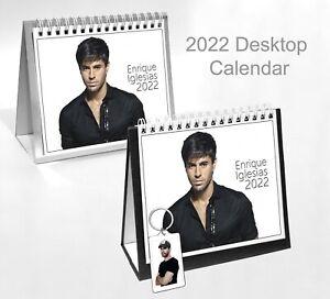 Enrique Iglesias 2022 Office Desktop Holiday Calendar + Key Ring