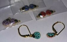 Joan Rivers Tiny Earrings With Interchangable Charms