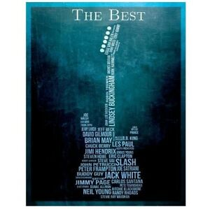 "The Best Guitarists Tin Sign Music Guitar Poster 16"" x 12.5"" BRAND NEW"