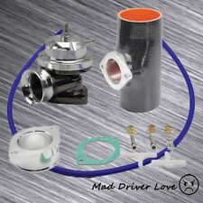 """SILVER BOV BLOW OFF VALVE 30PSI+3"""" SILICONE COUPLER UNIVERSAL FOR INTEGRA"""