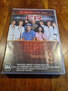 DVD - ER THE COMPLETE Fourth SEASON 4  -  PAL Region 4 Australia