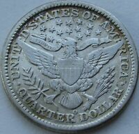 1899-O Barber Quarter in a SAFLIP® - VF+ Details