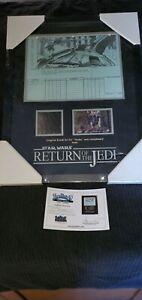 Star Wars Framed Ewok Teebo Fur With Storyboard Prop 15x19.5 screen used prop